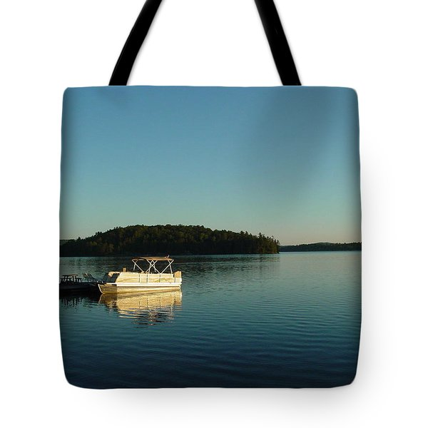 Tote Bag featuring the photograph Quiet Lake by Dorothy Maier