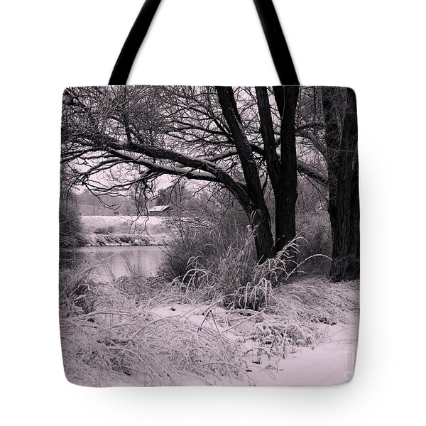 Quiet Morning After Snowfall Tote Bag by Carol Groenen
