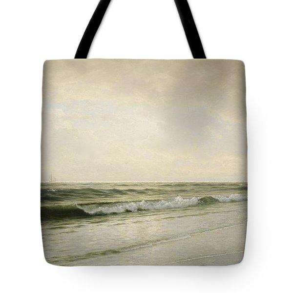 Quiet Seascape Tote Bag by William Trost Richards