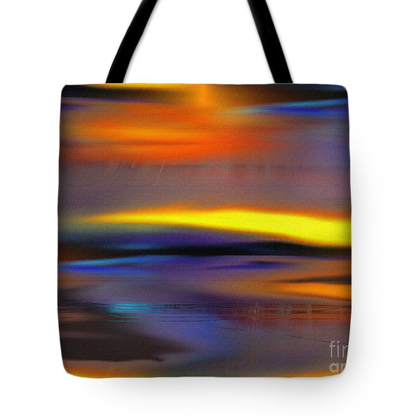 Tote Bag featuring the painting Soft Rain by Yul Olaivar