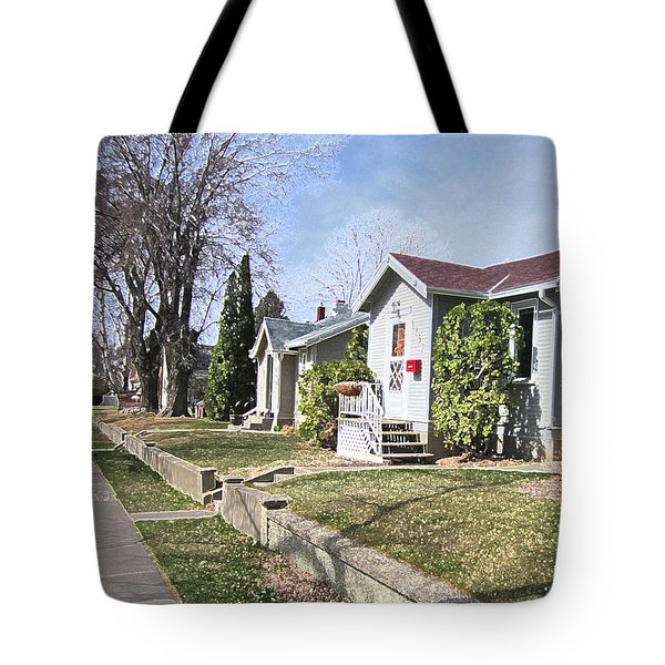 Quiet Street Waiting For Spring Tote Bag by Donald S Hall