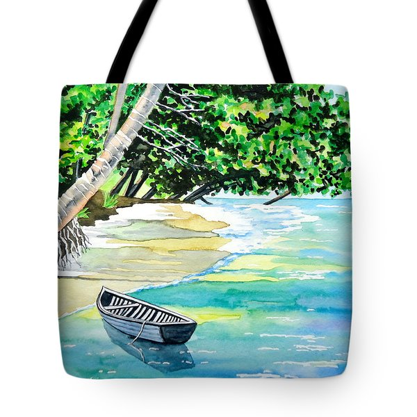 Quiet Waters In Paradise Tote Bag
