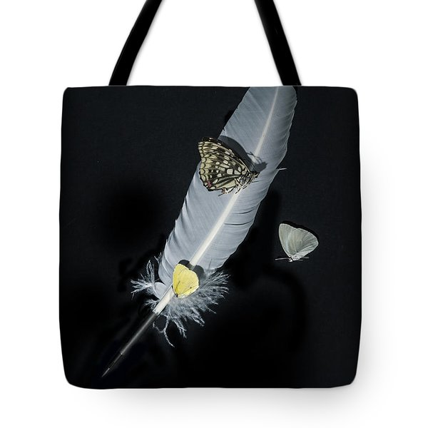 Quill With Butterflies Tote Bag by Joana Kruse