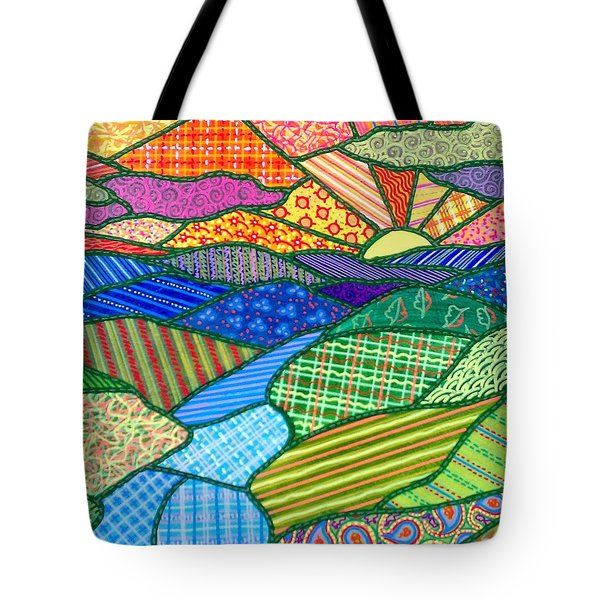 Quilted Appalachian Sunset Tote Bag