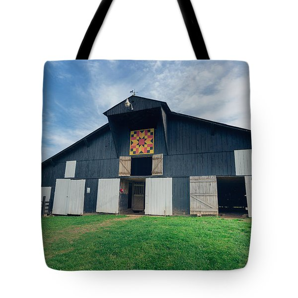 Quilted Barn Tote Bag