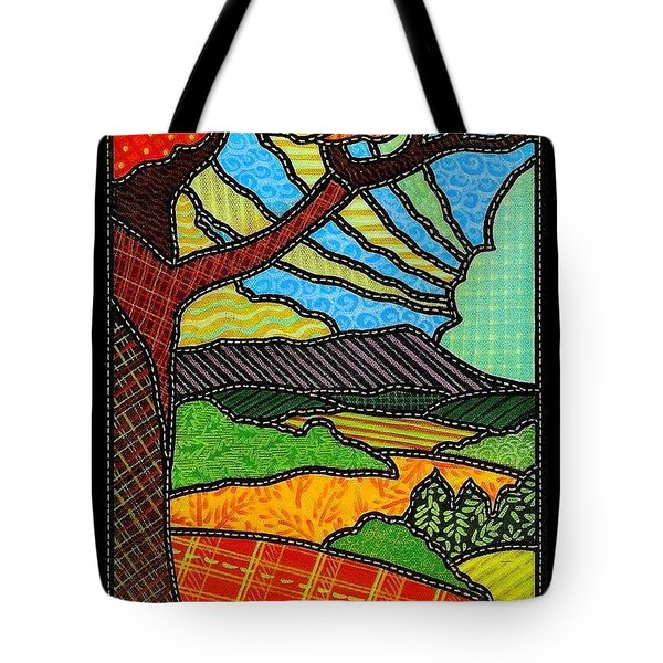 Quilted Bright Harvest Tote Bag