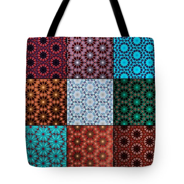 Quilted Fractals Tote Bag