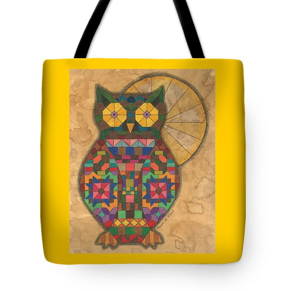 Quilted Owl Tote Bag