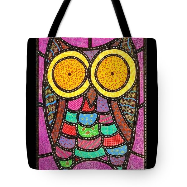 Quilted Owl Tote Bag by Jim Harris