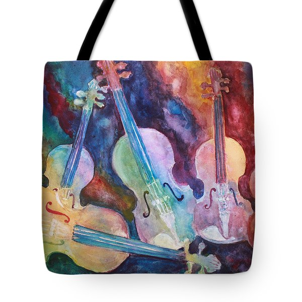 Quintet In Color Tote Bag by Jenny Armitage