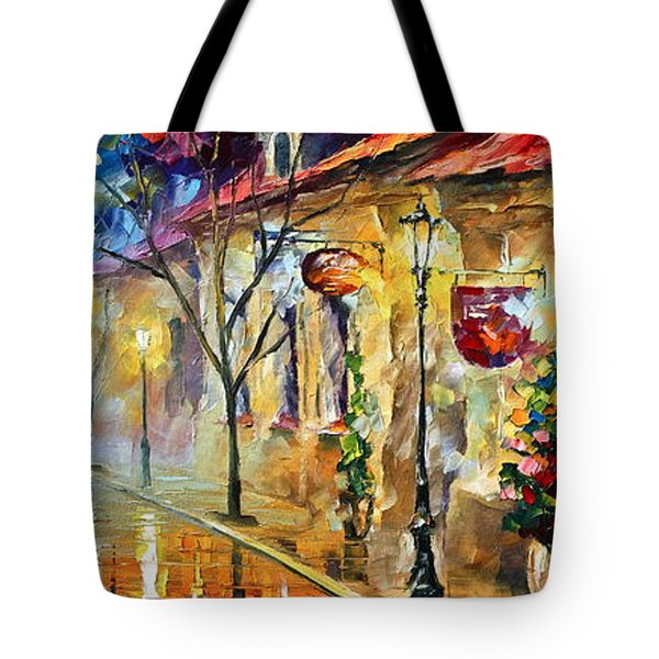 Quite Morning Tote Bag by Leonid Afremov