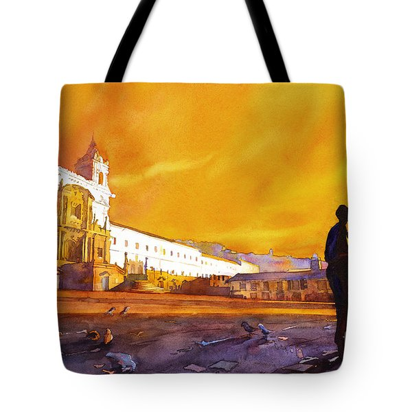 Quito Sunrise Tote Bag by Ryan Fox