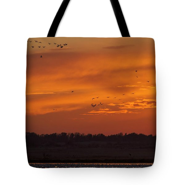 Tote Bag featuring the photograph Quivira Sunset 1 by Rob Graham