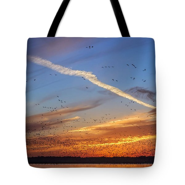 Tote Bag featuring the photograph Quivira Sunset 2 by Rob Graham
