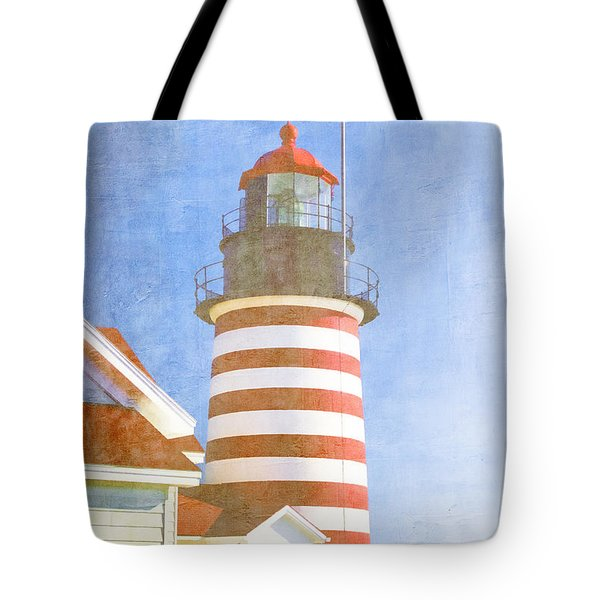 Quoddy Lighthouse Lubec Maine Tote Bag