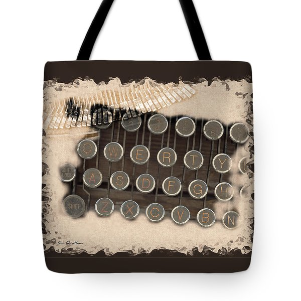 Qwerty Old Style Tote Bag