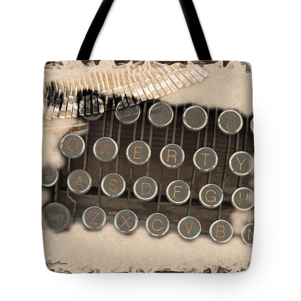 Qwerty Old Style Tote Bag by Kae Cheatham