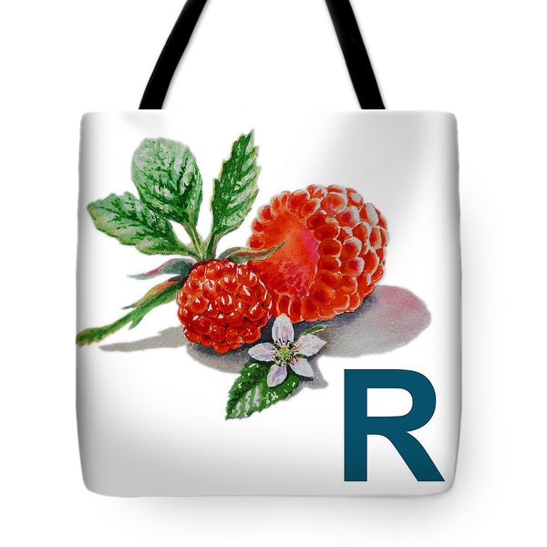 R Art Alphabet For Kids Room Tote Bag by Irina Sztukowski