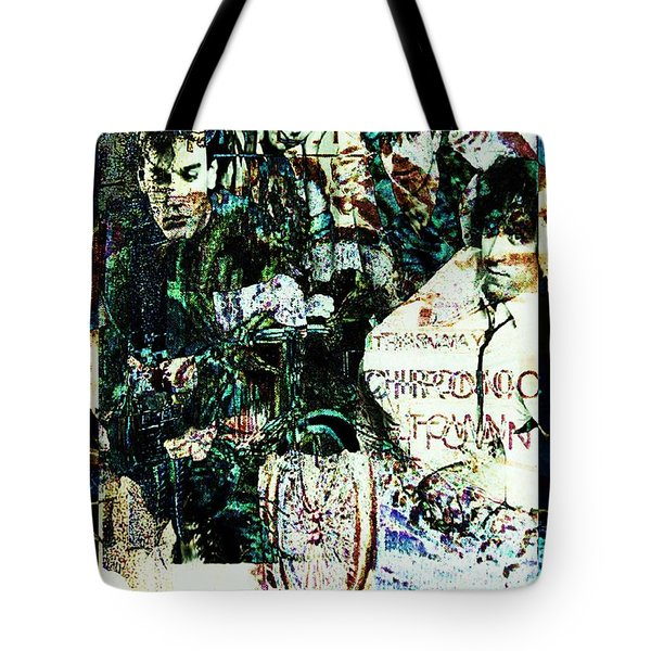 R E M / Exit Chronic Town Tote Bag by Elizabeth McTaggart