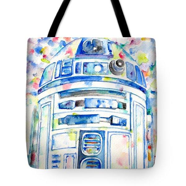 R2-d2 Watercolor Portrait.1 Tote Bag