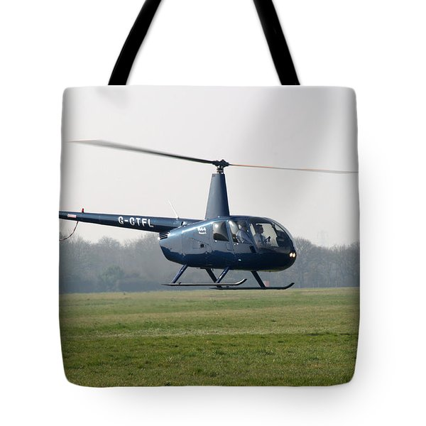 R44 Raven Helicopter Tote Bag