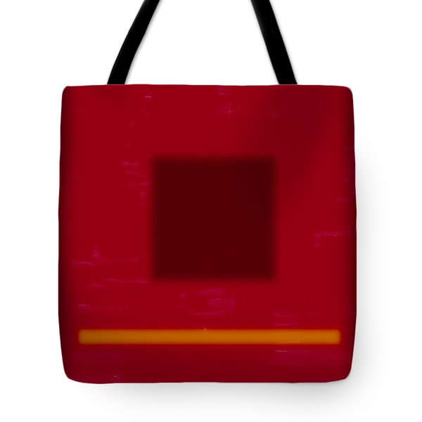 Color Field With Dark Square Tote Bag