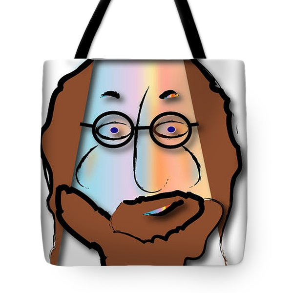 Tote Bag featuring the digital art Rabbi David by Marvin Blaine