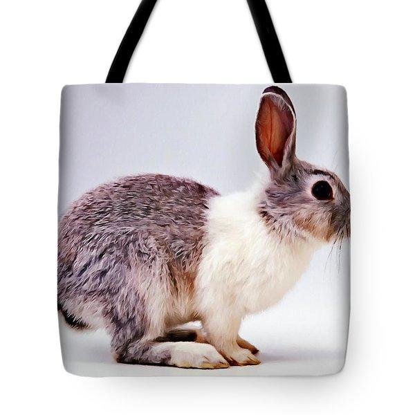 Rabbit  3 Tote Bag by Lanjee Chee