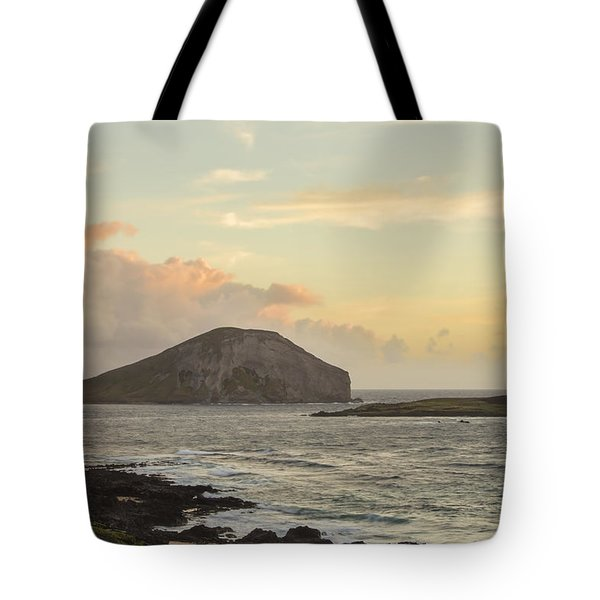 Tote Bag featuring the photograph Rabbit And Turtle Island At Sunrise 1 by Leigh Anne Meeks