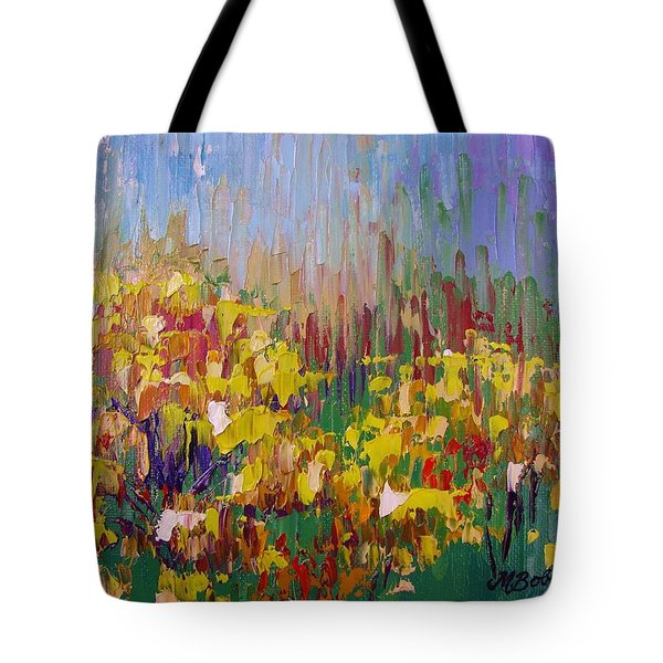 Rabbit Brush Abstracted Tote Bag by Margaret Bobb