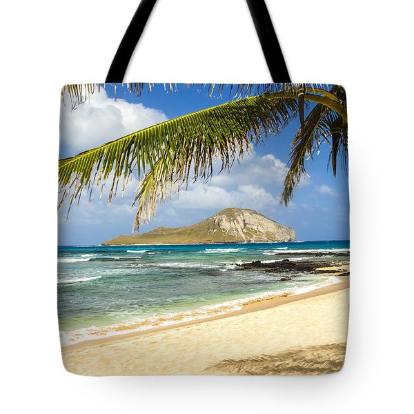 Rabbit Island 1 Tote Bag by Leigh Anne Meeks