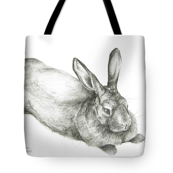 Rabbit Tote Bag by Jeanne Maze