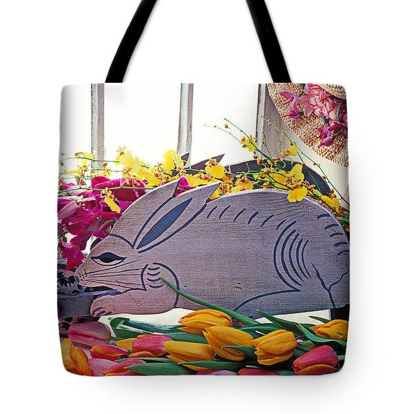 Rabbit Wheel Barrow Tote Bag