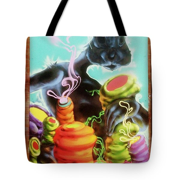 Rabbit With A Habit Tote Bag