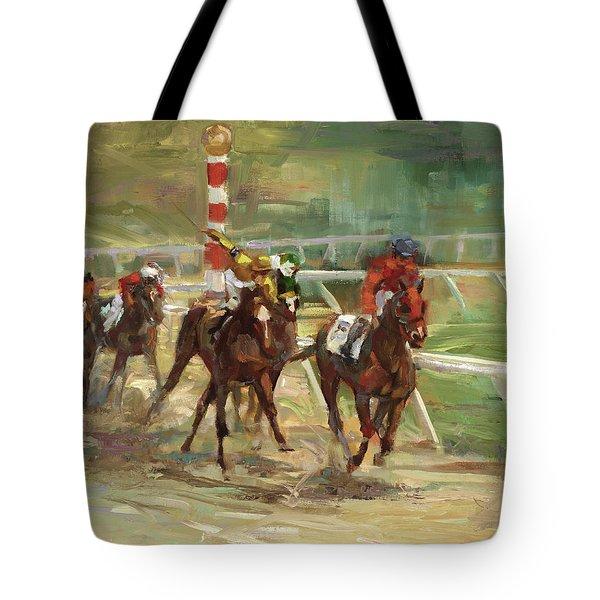 Race Horses Tote Bag