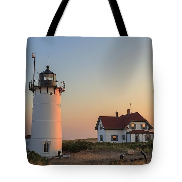 Race Point Lighthouse Tote Bag by Bill Wakeley