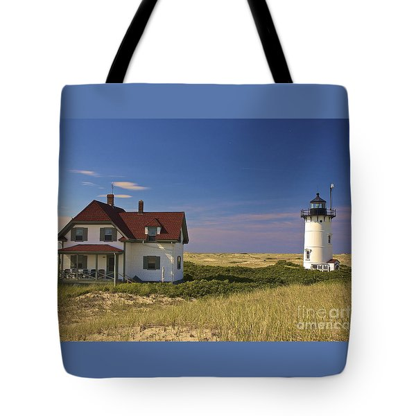 Race Point Lighthouse In Summer Tote Bag