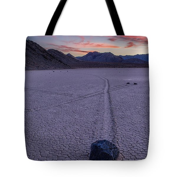 Race Track Death Valley Tote Bag by Jerry Fornarotto