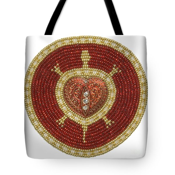 Bw's Red Heart Turtle Tote Bag