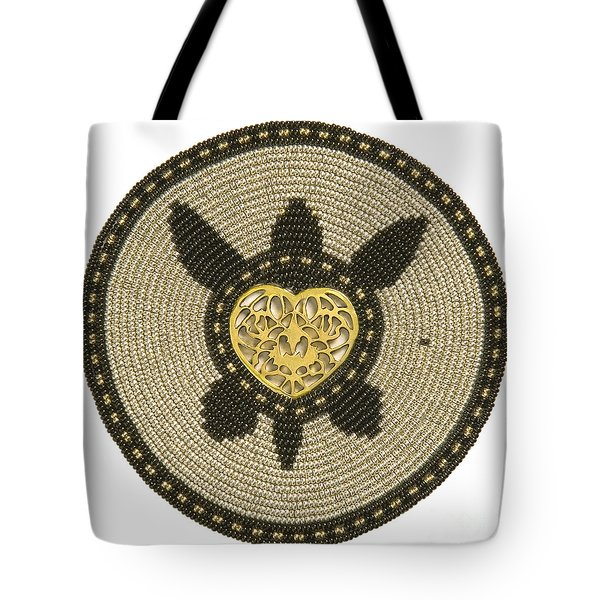 Golden Heart Tote Bag