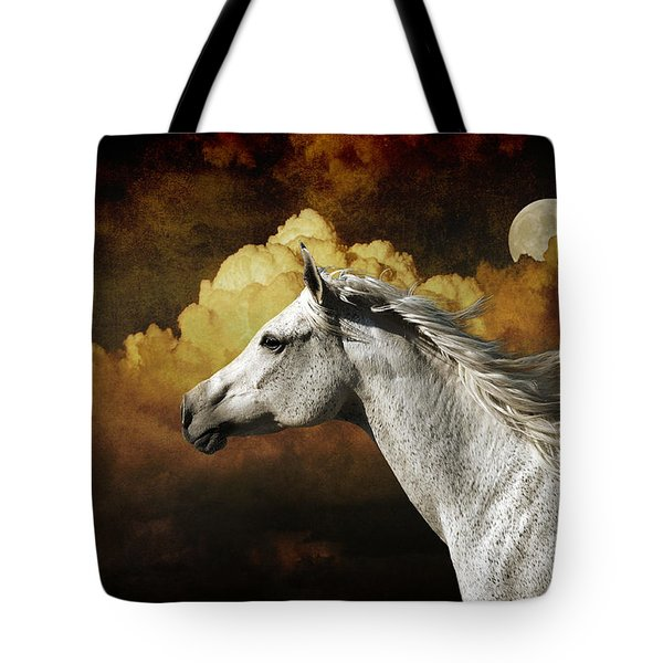 Racing The Moon Tote Bag by Karen Slagle