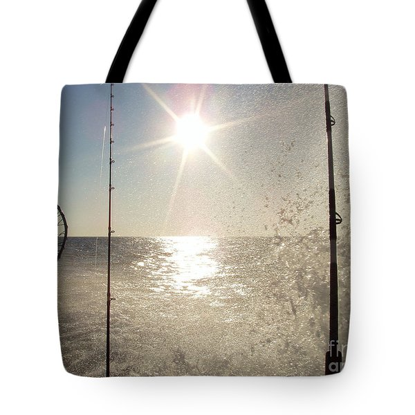 Racing To The Fishing Grounds Tote Bag by John Telfer