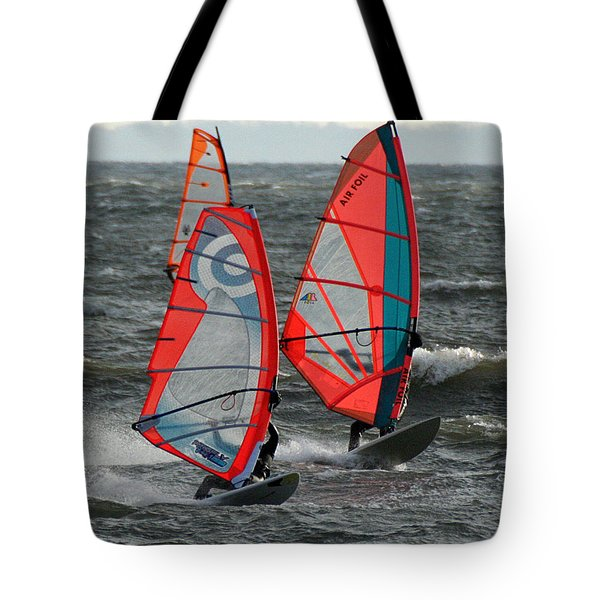 Racing With Wind Tote Bag