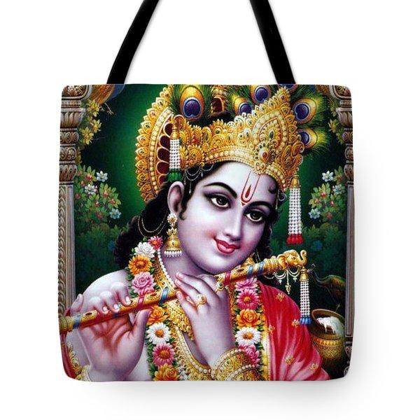 Radha Krishna Idol Hinduism Religion Religious Spiritual Yoga Meditation Deco Navinjoshi  Rights Man Tote Bag