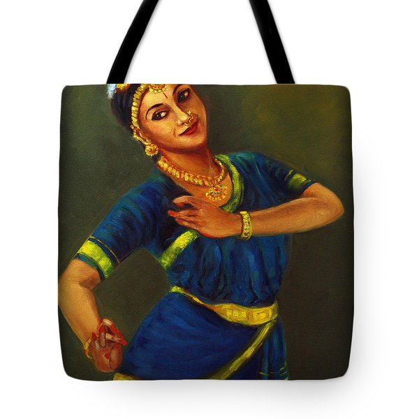 Radha Playing Krishna Tote Bag