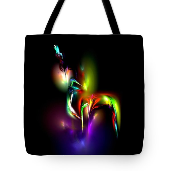 Tote Bag featuring the digital art Radiance by Pete Trenholm