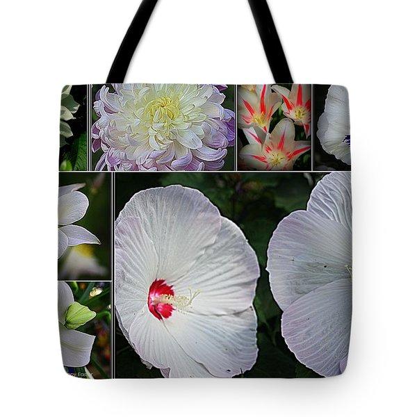 Radiant In White Tote Bag by Dora Sofia Caputo Photographic Art and Design