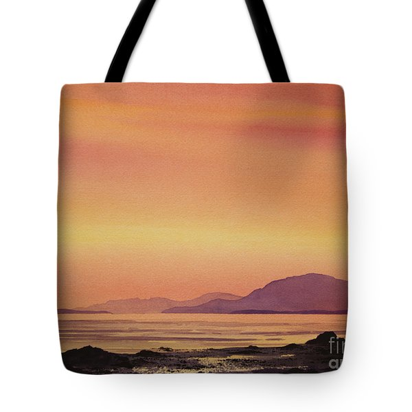 Radiant Island Sunset Tote Bag by James Williamson