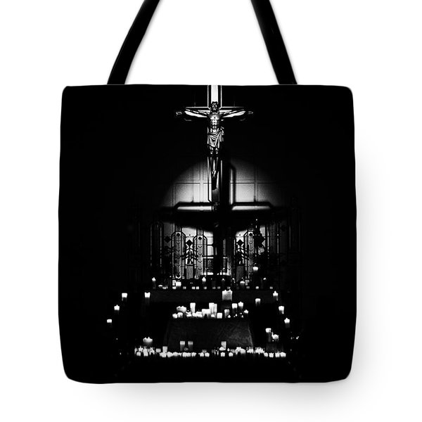 Radiant Light - Black Tote Bag