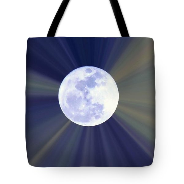Tote Bag featuring the photograph Radiant Moon by Kelly Nowak